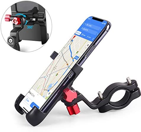 homeasy Universal Bike Phone Mount, Bicycle Holder Handlebar Cellphone Adjustable, Fits iPhone Xs XS Max, XR, X, 8 8 Plus, Galaxy S9, Holds Phones from 3.5-7 Wide, Fall Prevention