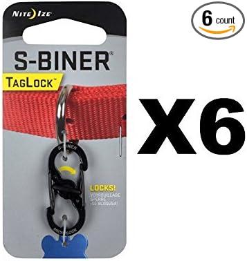 6 pack Size 3 S-Biner Black