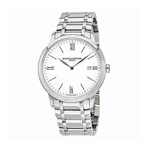 Baume et Mercier Classima White Dial Mens Watch 10354
