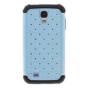 LIMME-Luxury Shimmering Diamond Design Double Layers PC and Silicone Case Cover for Samsung Galaxy S4 I9500 , Dark Blue