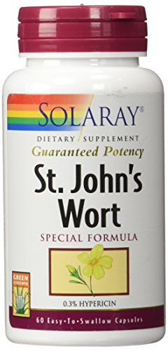 Solaray Guaranteed Potency St. John's Wort 900 mg Capsules, 60 Count