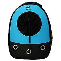 Okbuynow Pet Carrier Travel Backpack Soft-sided Shoulder Bag for Cat or Dog, Blue, Medium