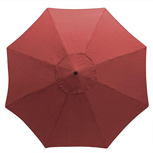 Hampton Bay 11 ft. Aluminum Patio Umbrella in Chili