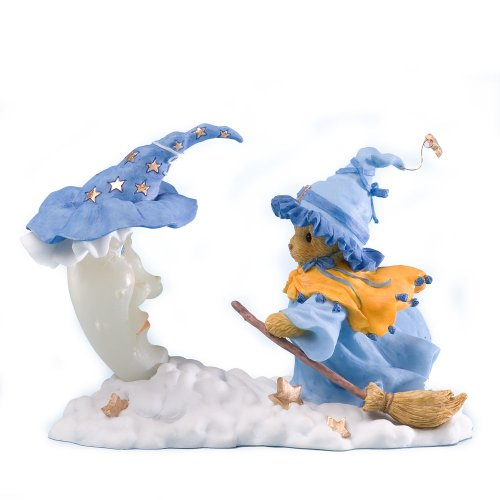 Enesco 4023637 Cherished Teddies Collection Witch Flying Broom Figurine