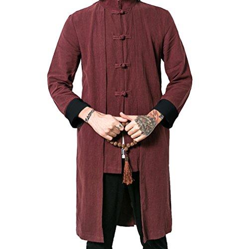 Chaquetas y Hombre gabardinas impermeables Rojo Honghu O4aAqSqw