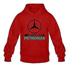 LiuLU Qiu Men's Mercedes AMG Petronas Formula One Team Long Sleeve Sweatshirt Hoodies