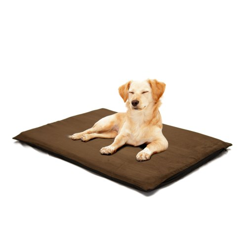 PETMAKER 2-Inch Orthopedic Foam Pet Bed, Large, Suede Espres