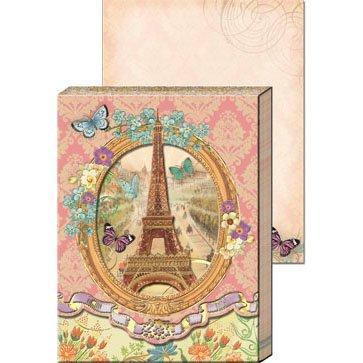 1 X Die-cut Window Pocket Note Pad - Eiffel Tower 59669