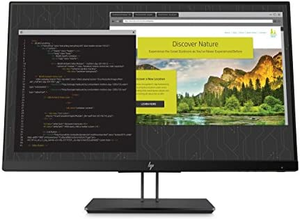 HP Z24nf Display 23.8-Inch Screen LED-Lit Monitor Black Pearl (1JS07A8#ABA) - Fado