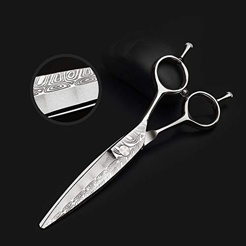 Dig dog bone 6 Inch, Damascus Road Willow Scissors Shear Hair Scissors, Easy to use (Color : Silver) ()