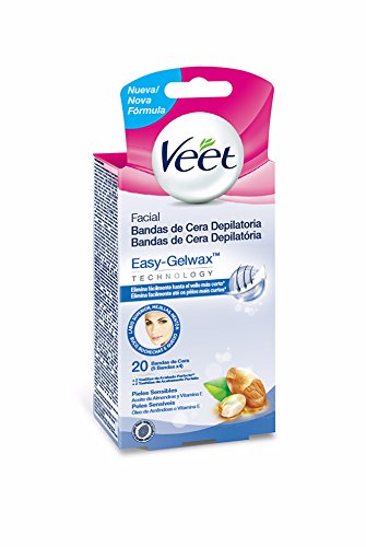 Veet Easy Gelwax Facial Bands Depilatory Wax X20 5601217113474