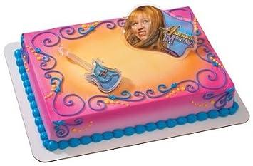 Groovy Hannah Montana Lip Gloss Guitar Cake Topper Set By Decopac Amazon Birthday Cards Printable Inklcafe Filternl