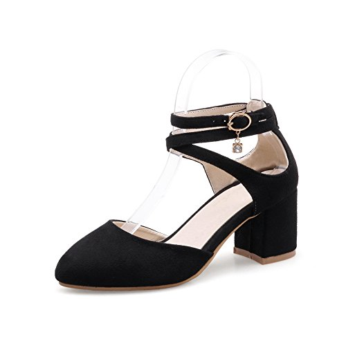 Black Sandals Marking SLC03836 Dress Urethane Womens AdeeSu Non Solid nqFSFx
