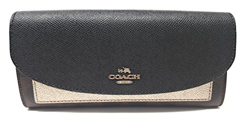 Coach Gift Box Slim Envelope Wallet (Brown/ Black Platinum) by Coach