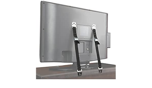 Safety Baby Metal Furniture TV Straps Earthquake Proof Bolts /& Hardware Included