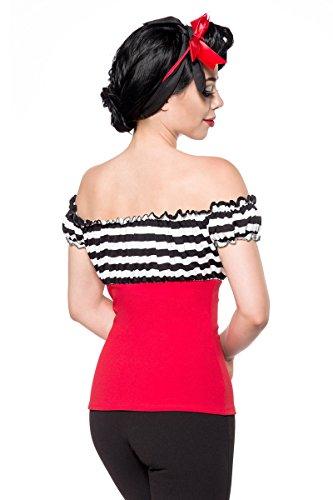 Belsira Chemisier Femme Blanc Noir Rouge r8rxUqRd