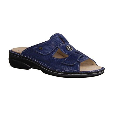 Finn Comfort - Zuecos de Piel para mujer Azul azul