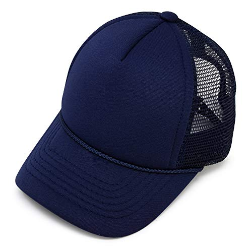 DALIX Infant Trucker Hat Baby Cap Tiny Extra Small Girls Boys in Navy Blue -