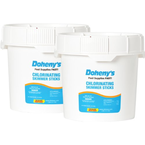 Doheny's Swimming Pool Chlorine-Skimmer Sticks - 50 lbs. (2-25 lb.)
