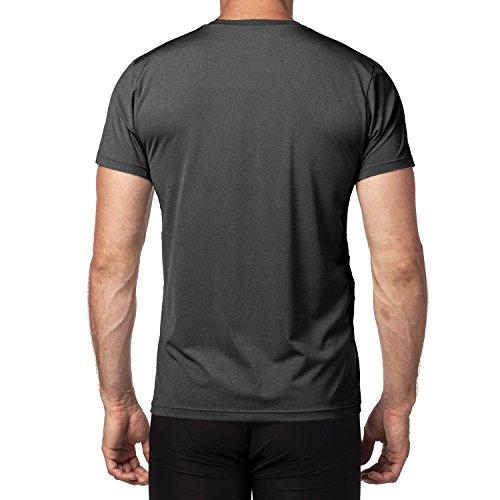 shirt M15 Anti Lot Foncé T 1 respirant 1 Musculation Courte Ultra De Fitness Homme Lapasa odeur 2 Gris Running Sport Manche Antibactérien 5IqdwUOU
