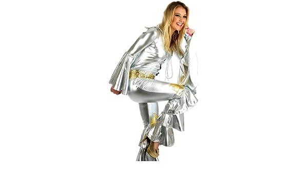 ABBA DANCING QUEEN FANCY DRESS COSTUME XL 14-16 (disfraz): Amazon ...