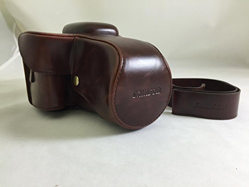 Camson Leather Case Bag for Canon EOS Rebel T6, T5, T3, with 18-55mm Lens (Vintage Brown)