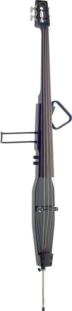 Lucky Penny EDBLX-MBK Metallic BK Deluxe 3/4 Electric Upright Double Bass w/Bag