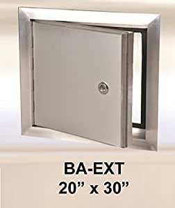 20 X 30 Exterior Access Panel With Piano Hinge Aluminum Garden Outdoor