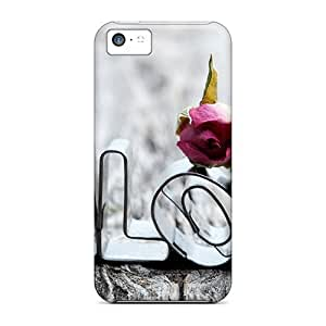 Unique Design Iphone 5c Durable Tpu Case Cover Love Letters Art