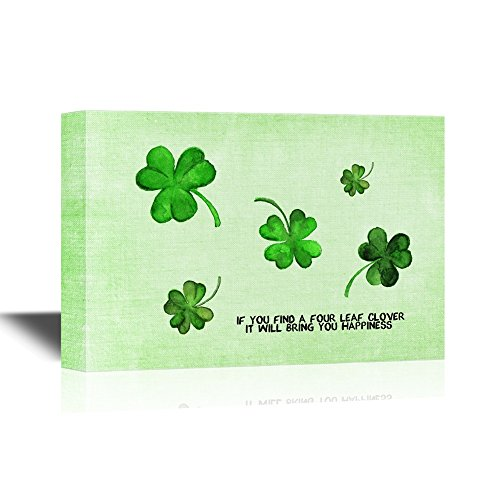 Clover Leaves Good Luck Concept