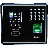 ZKTeco Reloj checador Facial para el Control de Asistencia MB160 / reconocimiento por Huella y Rostro/diseño Delgado para instalarlo fácilmente en Cualquier Lado