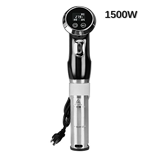 1500W Sous Vide Exactness Cooker Immersion Circulator, Vacuum Food Cooker, LCD Digital Display Cooking Machine, Accurate Temperature Digital Timer,Ultra-Quiet,Stainless Steel Kitchenware ()