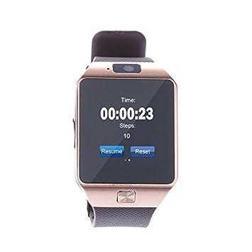 TOKUYI ® DZ09 Bluetooth SmartWatch Sport-Reloj de pulsera teléfono inteligente para Smartphone pantalla táctil
