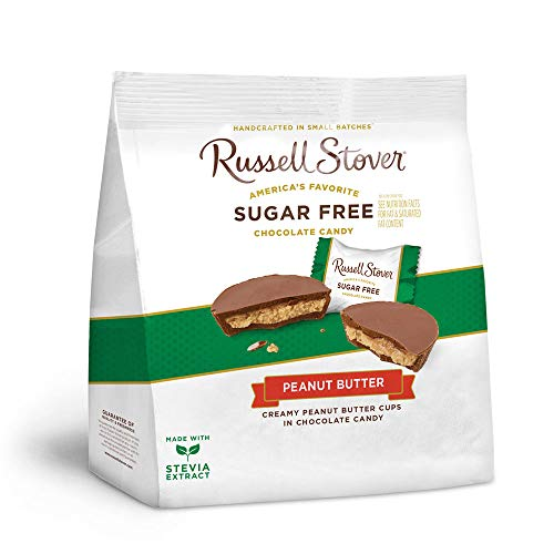 Russell Stover's Sugar Free Peanut Butter Cups, 10 oz. Bag (Russell Stover Peanut)