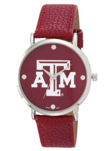 (TEXAS A&M AGGIES LADIES WATCH W/ VINYL BAND-TEXAS A&M UNIVERSITY LADIES WATCH)
