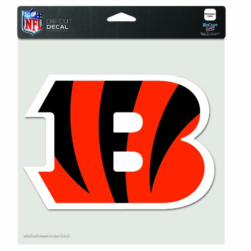 NFL Cincinnati Bengals 8-by-8 Inch Diecut Colored Decal