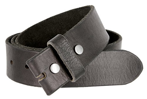 [BS-40 Vintage Full Grain 100% Leather Distressed Style Snap on Belt Strap 1 1/2