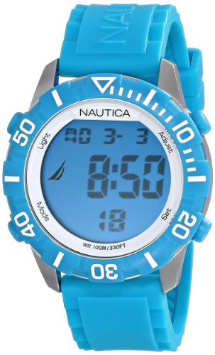 - Nautica Unisex N09926G NSR 100 Digital Watch With Blue Silicone Band
