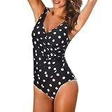 Zaidern Women Tankini Sets Women's Athletic Crisscross Printed One Piece Swimsuits Padded Swimwear Bathing Suits Beachwear White