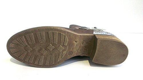 Mjus Stiefelette, Größe 36, Antikleder fumo-cenere-argento, 601235-6640-4774