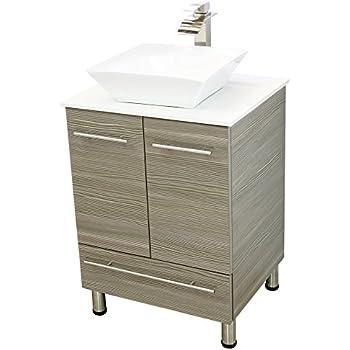 windbay 24 free standing bathroom vanity sink set vanities sink grey. Black Bedroom Furniture Sets. Home Design Ideas