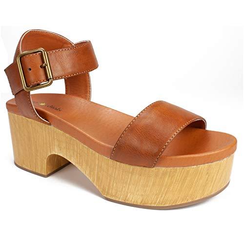 SEVEN DIALS Women's Wayne Heeled Sandal Tan/Burnished/Smooth 11 M US