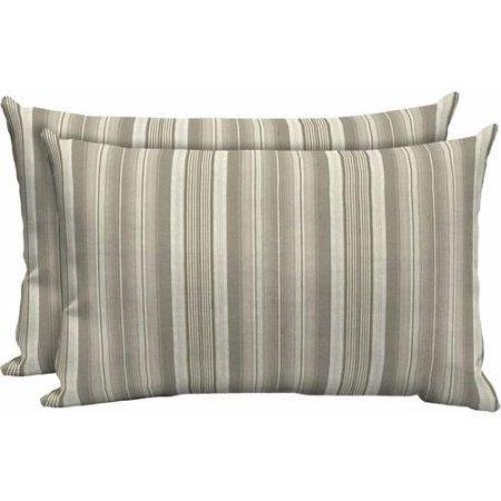 Pillow Livable, Beautiful, Comfortable Set of 2, Grey Stripe