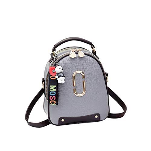 Clutch de YAANCUNN de Oscuro Mini Gris Bolso Bandolera Mano Bag Crossbody Hombro Bolso Bolso Vintage PIIzrg