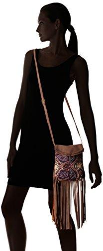 Flap With Mushroom Bag Twig Arrow amp; Printed Cross Fringe Body ZwWqXafRW