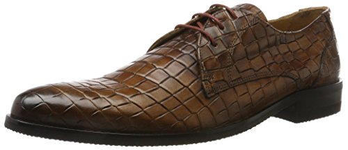 Melvin & Hamilton Toni 1, Derbys Homme Marron (T-crock Wood, Modica Blue T-crock Wood, Modica Blue)
