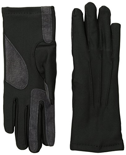Isotoner Womens Stretch Classics Fleece Lined Gloves, charcoal, One Size