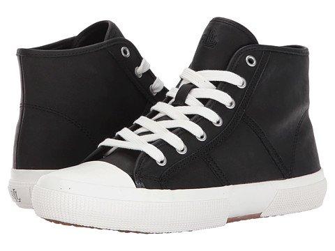 (ローレンラルフローレン) LAUREN Ralph Lauren レディースウォーキングシューズ?カジュアルスニーカー?靴 January-SK Black Super Soft Leather 7.5 24.5cm B - Medium [並行輸入品]