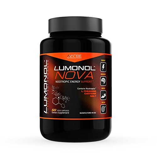 Lumonol Nova | Peak Performance | Energy | Focus | Now Available to anyone…| 60 Veg Caps | 1 Month Supply