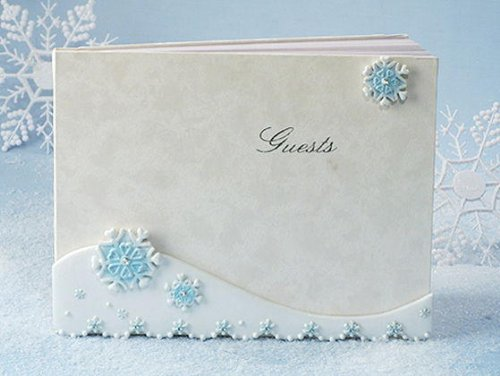 Winter Wonderland Collection Guest Book C448 Quantity of 1 - Snowflake Guest Book